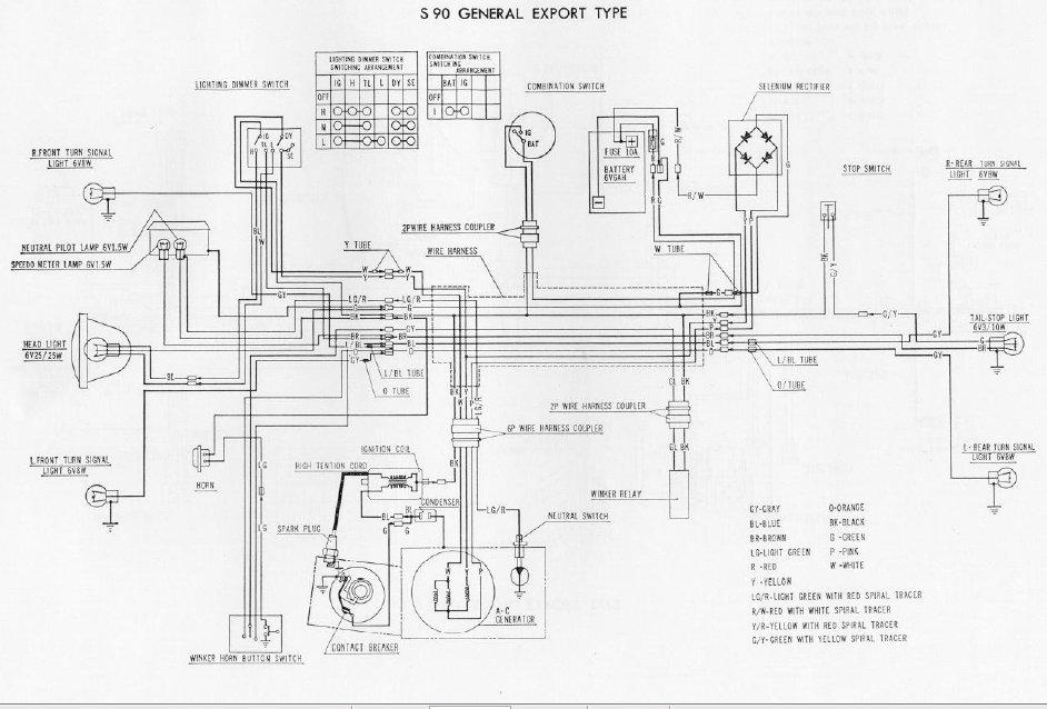 honda s90 wiring color schematic honda s90 - restoration honda s90 wiring schematic #1